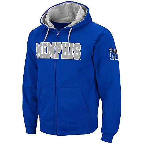 Colosseum Mens Memphis Tigers Full Zip Hoodie - S