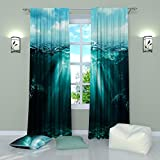 Cheap Landscape Curtains by Factory4me Patches of light in water. Window Curtain Set of 2 Panels Each W52 x L96 Total W104 x L96 inches Drapes for Living Room Bedroom Kitchen
