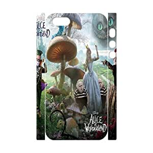 D-PAFD Cell phone Protection Cover 3D Case Alice in Wonderland For Iphone 5,5S