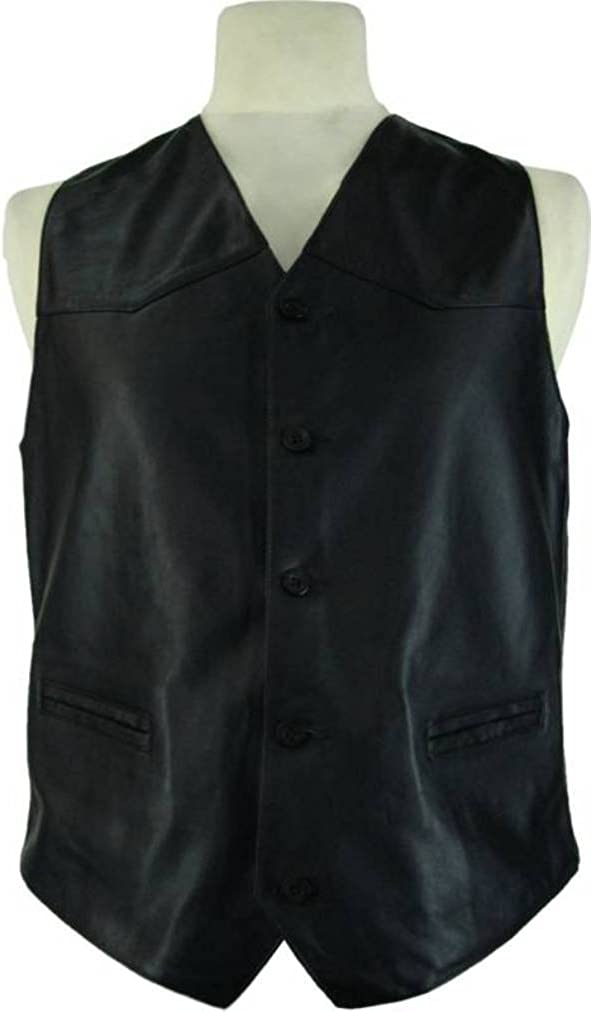 UNICORN Mens Real Leather Jacket Classic Fitted Style Suit Blazer Black GT #T9