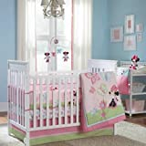 5-pieces-Disney-Minnie-Mouse-Butterfly-Charm-Crib-Bedding-Set-Bumper-Included
