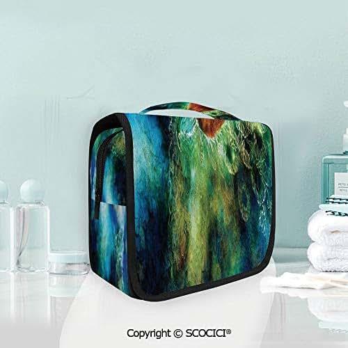 SCOCICI Travel Hanging Wash Bag Kit Mythical Phoenix Rebirth Long New Life