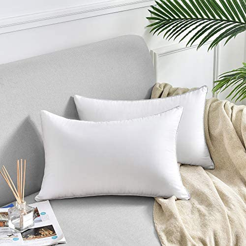 Oubonun 12 X 20 Pillow Inserts Set Of 2 Throw Pillow Inserts With 100 Cotton Cover Rectangle Square Interior Sofa Pillow Inserts Decorative Pillow Insert Pair White Couch Pillow Home Kitchen