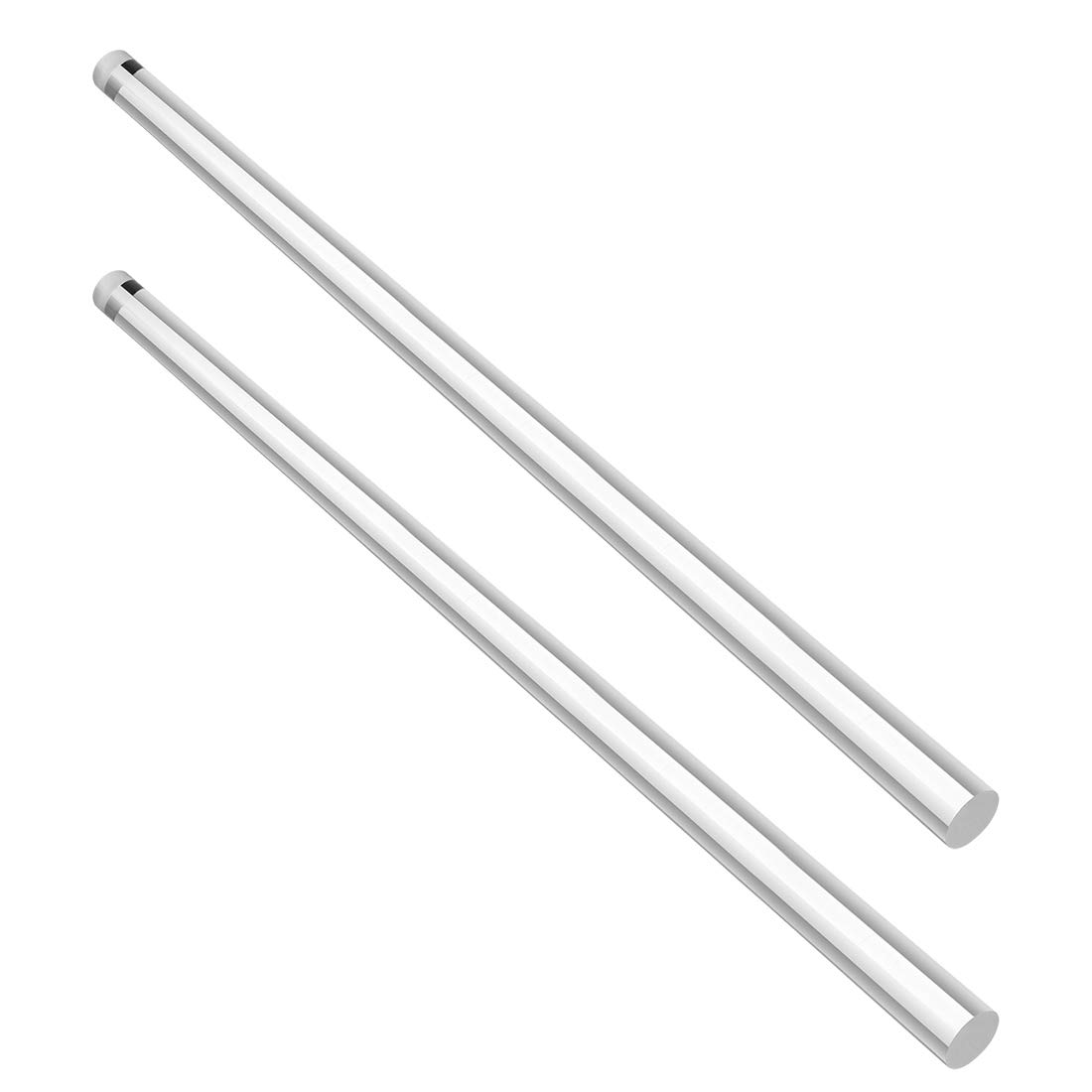 sourcing map 5mmx250mm Clear Solid Acrylic Round Rod PMMA Bar 4pcs