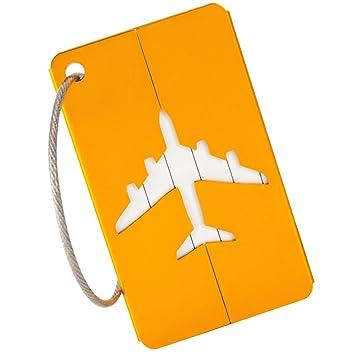 seebesteu Equipaje Etiqueta Aluminio Aire Equipaje Bolso Identificador del Equipaje de la Maleta: Amazon.es: Deportes y aire libre