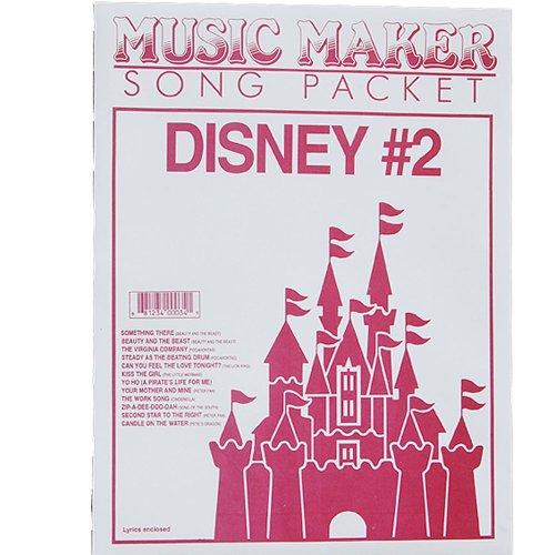 European Expressions Intl Disney #2 Music Maker Song Sheet - Music Maker Song Sheets