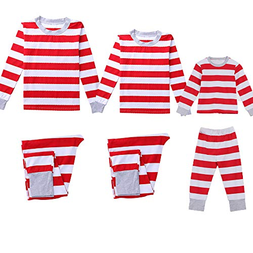 Seaintheson Family Matching Christmas Pajamas Set, Family Xmas Pajamas Sets Striped Blouse +Pants Nightwear Sleepwear Outfits ()