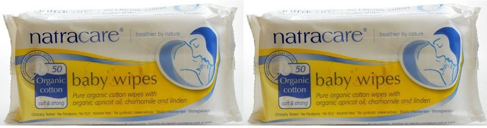 (LOT DE 2) - Natracare - Org Cotton Baby Wipes | 50wipes | LOT DE 2