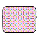 Jingclor Business Briefcase Sleeve Love Hearts Seamless Art Laptop Sleeve Case Note PC Cover Handbag