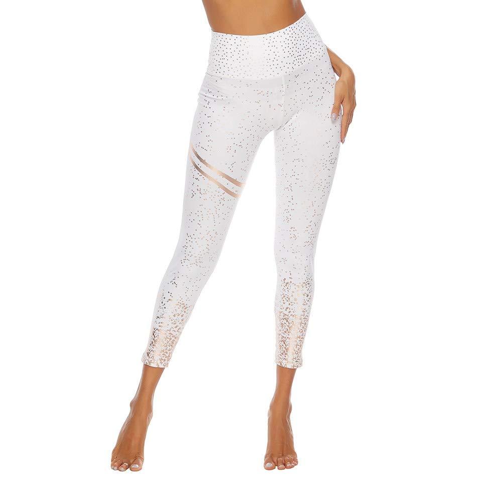 Women Workout Hot Stamping Print Leggings Fitness Sport Yoga Athletic Pants