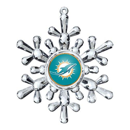 NFL Miami Dolphins Snowflake Ornament