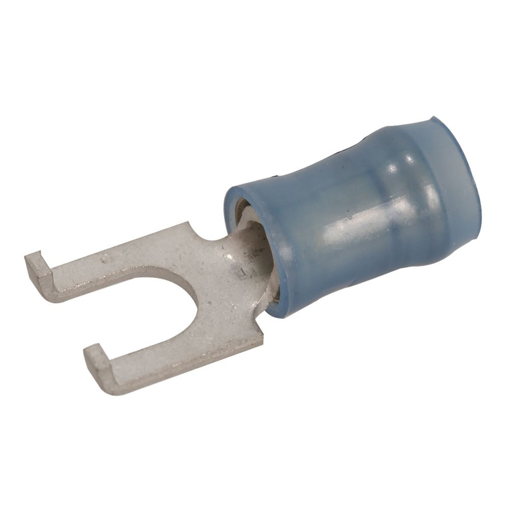 Amp 320862 Flanged Spade Tongue Terminal, 14-16AWG, Tin Loose Piece, 18.72 mm L x 7.47 mm D, Blue (Pack of 20)