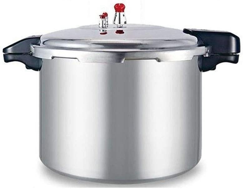 BLHZPD Thickened Explosion-Proof Pressure Cooker Commercial Large-Capacity Gas o Pen Flame Special Hotel Dining Room Oversized Pressure Cooker 21L, 23L (Color : Silver, Size : 23L)