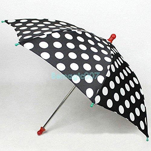 Round dot umbrella black - Parasol Production Magic