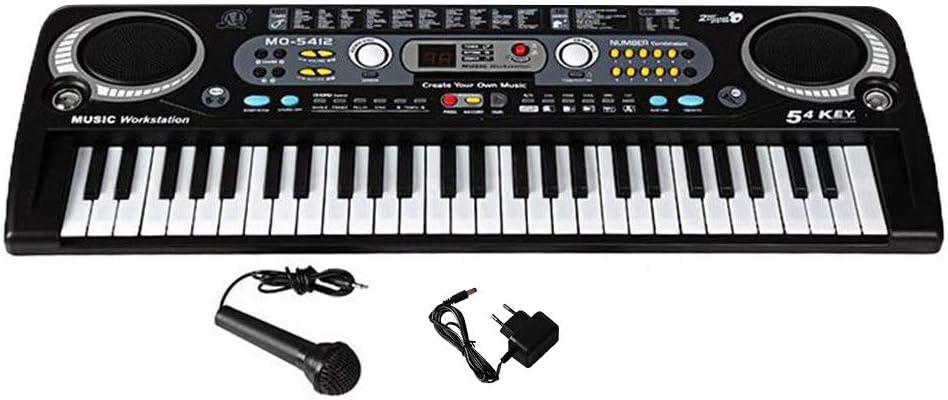 HM2 Piano eléctrico Digital de 54 Teclas, con Soporte de ...