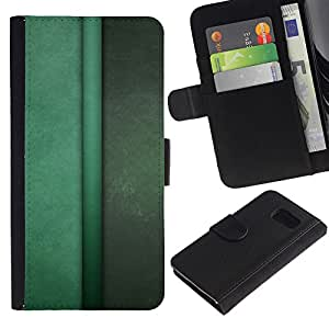 All Phone Most Case / Oferta Especial Cáscara Funda de cuero Monedero Cubierta de proteccion Caso / Wallet Case for Samsung Galaxy S6 // Vertical Lines Green Pastel Calm