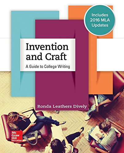 Invention & Craft MLA 2016 UPDATE