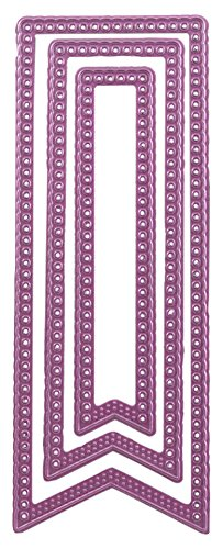 Cheery Lynn Designs Cheery Lynn Designs die-pierced Banner, 5,7cm x Spitzkelle, andere, mehrfarbig