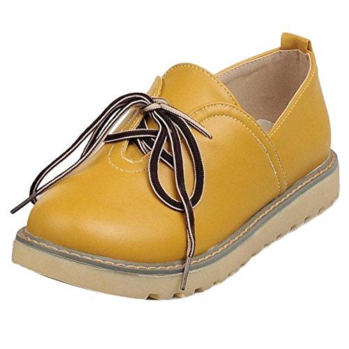 COOLCEPT Damen Mode Skateboarding Schuhe Yellow