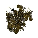 100pcs 8mm Flat Pad Stud Earring Post Peg Pin DIY Making Findings Bronze