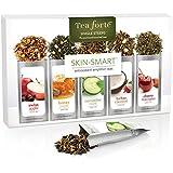 Tea Forté SKIN-SMART Single Steeps Loose Leaf Tea Sampler, 15 Single Serve Pouches - Antioxidant Amplifier Teas