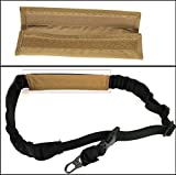 Ultimate Arms Gear Tan Sling Mount Strap Shoulder Comfort Pad Padded For Saiga 7.62x39mm .308 .410 or 12 & 20 Gauge