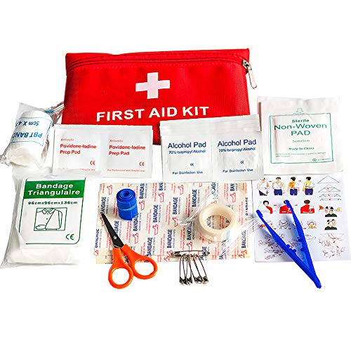 Pocketman 39 Piece First Aid Emergency Kit for Emergency, Survival, Hiking, Backpacking, Camping, Travel, Car & Cycling