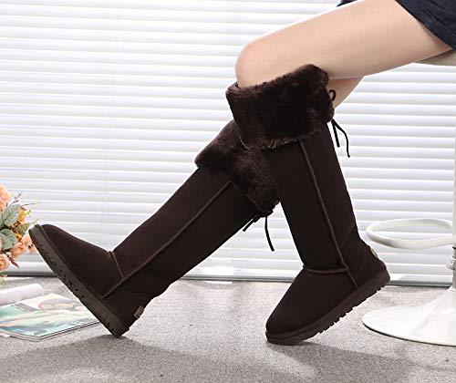 AGECC Lange Stiefel Wasserdichtes Leder Knie Schneestiefel Schneestiefel Schneestiefel Super Hohe Röhre Schöne Beine Dünne Und Warme Stiefel.  e108ac