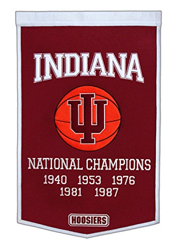 Winning Streak Indiana Hoosiers Official NCAA 24 inch x 36 inch Dynasty Wool Banner Flag by 760806