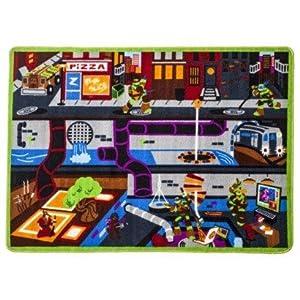 Nickelodeon Teenage Mutant Ninja Turtles Game Rug