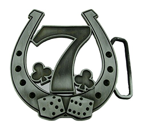 Men Women Lucky Belt buckle Horse shoe Vintage Las Vegas nv usa Dices Metal New - Dice Belt Buckle