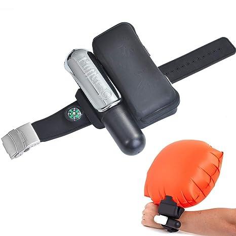 SUKILIU Wristband del Flotador, Dispositivo de Seguridad Inflable del Dispositivo de Rescate Portable, Dispositivo