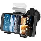HTC ONE M9 Car Mount Dock - Windshield & Dashboard Compatible (Vibration-free design) **Encased® Lifetime Warranty** (HTC ONE M9)