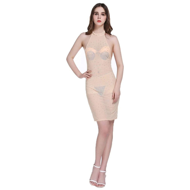 Robiear Women Sexy Nightclub Tight Skirt Bandage Dress