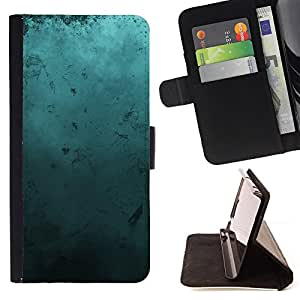 DEVIL CASE - FOR Samsung Galaxy S6 EDGE - Modern Art Random Blue Turquoise Ocean - Style PU Leather Case Wallet Flip Stand Flap Closure Cover