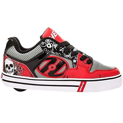 Heelys Motion Plus Skate Shoe (Little Kid/Big Kid), Red/Black, 8 M US Big Kid