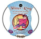 Flitter Ring Juggling Toy | Kinetic Gyro Sensory Toy | Fun, Scientific Spinning Action for Play and Magic Tricks | Kids and Adults (Gold Ring's)