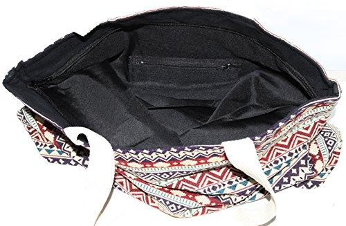 Size Bohemian Shoulder Handbag Top Handle Big B006 Hippie Tote Bag nrwIrvC8p