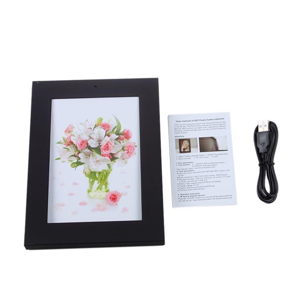 Mengshen/® Cadre 8GB New Home Photo style cam/éra cach/ée 1280 /× 960 pixels Cam/éra Espion Enregistreur Mini Dvr Audio Vid/éo AVI Invisible Camcorder MS-HC19BlackC