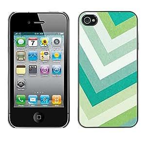 X-ray Impreso colorido protector duro espalda Funda piel de Shell para Apple iPhone 4 / iPhone 4S / 4S - Lines Green Pastel Summer