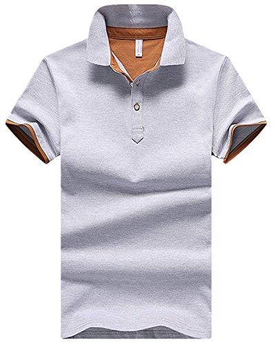 [ファンノシ]Fanessy ポロシャツ メンズ半袖 ボーダー お洒落な重ね着スタイル 涼しい 通気性 速乾性 薄手 吸汗 夏 polo カジュアル スポーツウェア ゴルフウェア シンプル 人気 ファッション カッコイイ メンズTシャツ