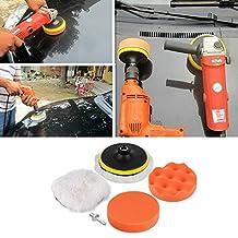 COGEEK 6Pcs 5 inch Buffing Pad Auto Car Polishing Wheel Kit Buffer With M10 Drill Adapter