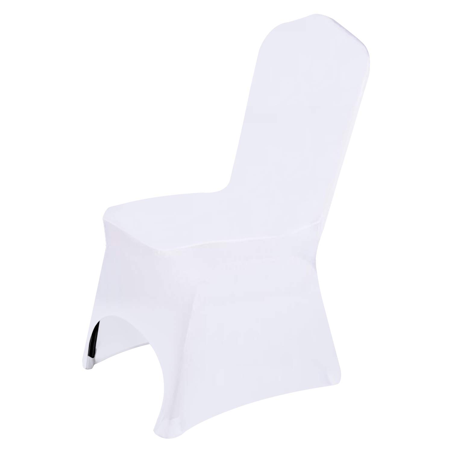 Easy-Going Wedding White Chair Covers Decoration Polyester Spandex Stretchable Banquet Arched Chair Slipcover for Wedding Party Meeting Dining(20CPS)