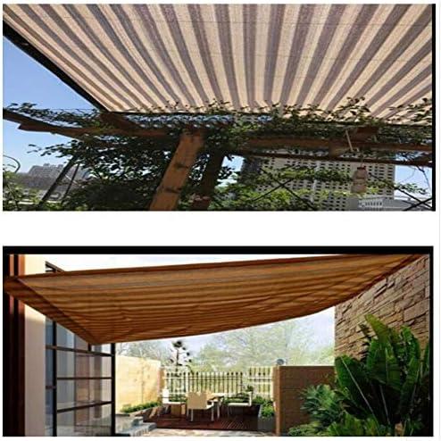 BAIYING Malla Sombra De Red Balcón Protector Solar Jardín Cubrir Pérgola Coche Cubierta Hebilla De Metal Polietileno, 23 Tallas Personalizable (Color : Striped Beige, Size : 4x4m): Amazon.es: Hogar
