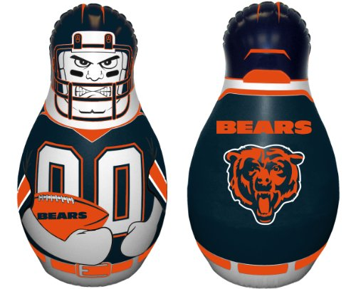 Fremont Die NFL Chicago Bears Tackle Buddy Inflatable Punching Bag, 40-Inch