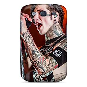 Anti-Scratch Cell-phone Hard Cover For Samsung Galaxy S3 (qOn17949YZaU) Allow Personal Design Vivid Black Veil Brides Band BVB Pictures