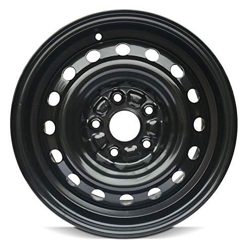 Road Ready Car Wheel For 1995-2004 Toyota Avalon 1992-2001 Toyota Camry Lexus ES300 1999-2003 Toyota Solara 15 Inch 5 Lug Black Steel Rim Fits R15 Tire - Exact OEM Replacement - Full-Size Spare