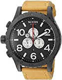 Nixon Men's '51-30 Chrono' Quartz Metal and Leather Watch, Color:Orange (Model: A1242448-00)