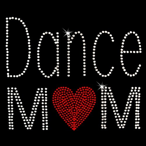 Iron on Hot Fix Rhinestone Motif Design Dance Mom