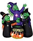 3 Witches with Cauldron Halloween Animated Airblown Inflatable